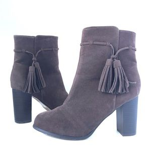 Cato Booties Brown With Fringe Tassels Women's 9